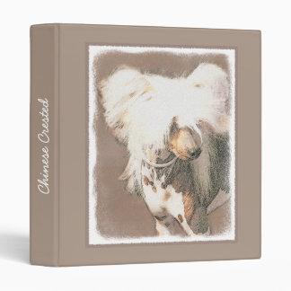 Chinese Crested (Hairless) Vinyl Binders