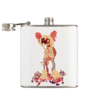 Chinese Crested Hip Flask