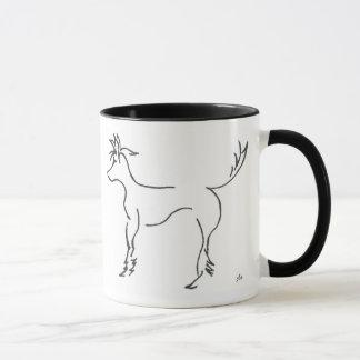 chinese crested line drawing mug