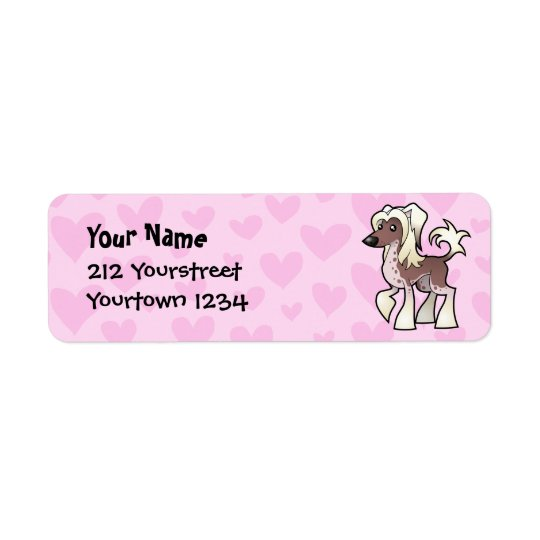 Chinese Crested Love (hairless) Return Address Label
