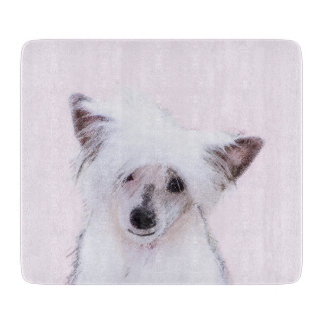 Chinese Crested Powderpuff Painting - Dog Art Boards