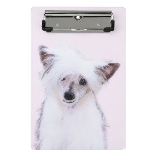 Chinese Crested Powderpuff Painting - Dog Art Mini Clipboard