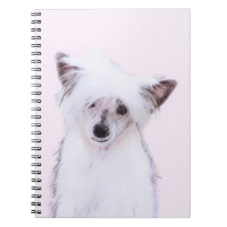 Chinese Crested (Powderpuff) Spiral Notebook