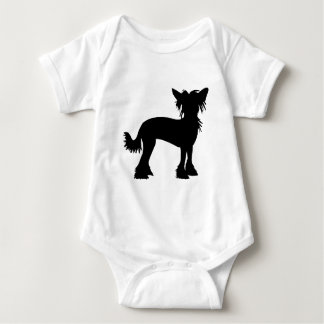 Chinese Crested Silhouette Baby Bodysuit