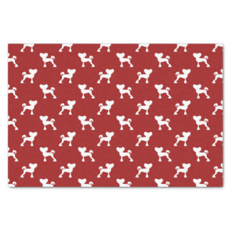 Chinese Crested Silhouettes Pattern Red Tissue Paper