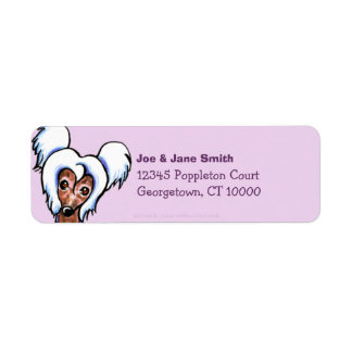 Chinese Crested Solid Thistle Return Address Label