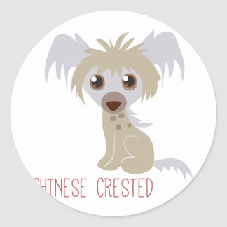 Chinese Crested Round Stickers