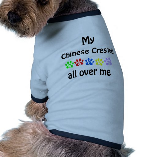 Chinese Crested Walks Design Dog Tee