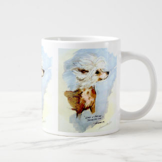 Chinese Crested Winds of Furtune Lucky Mug