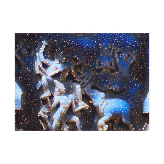 Chinese Dancing Gods - Eight Immortals Acrylic Canvas Print