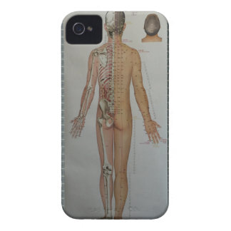 Chinese Doctor Back body acupuncture point map art iPhone 4 Cases