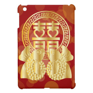 Chinese Double Happiness Koi Fish Red background iPad Mini Case