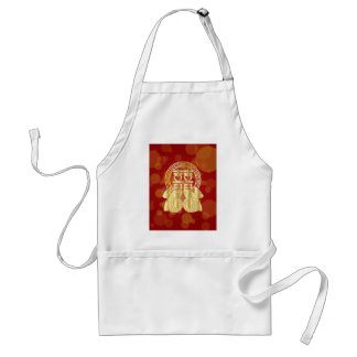 Chinese Double Happiness Koi Fish Red background Standard Apron