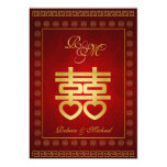 Chinese Double Happiness Wedding Invites