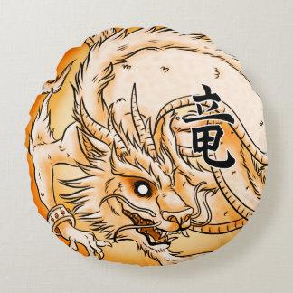 """Chinese Dragon 16"""" Round Throw Pillow"""