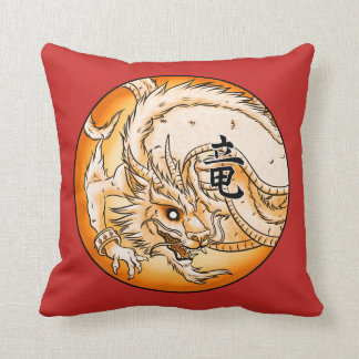 "Chinese Dragon 16"" x 16"" Polyester Throw Pillow"