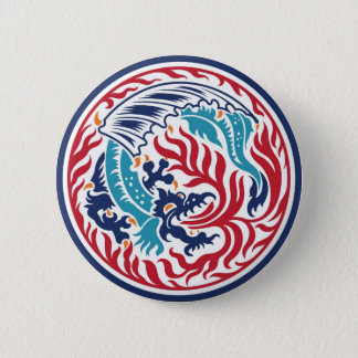 Chinese Dragon 2 Inch Round Button