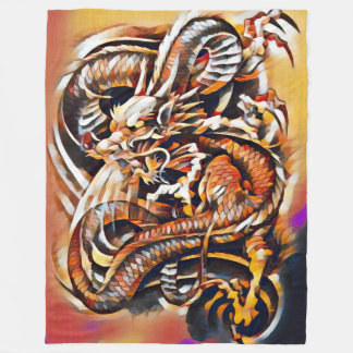 Chinese Dragon Acrylic Fleece Blanket