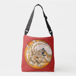 Chinese Dragon All-Over-Print Cross Body Bag