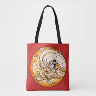 Chinese Dragon All-Over-Print Tote Bag