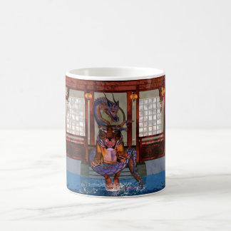 Chinese Dragon And Tiger Mug, Year Of The Tiger Coffee Mug
