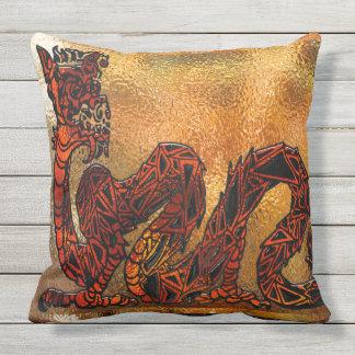 Chinese Dragon Asian Motif Throw Pillow