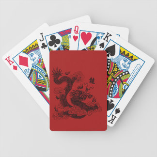 Chinese Dragon Bicycle Playing Cards