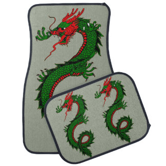 Chinese dragon car mat set
