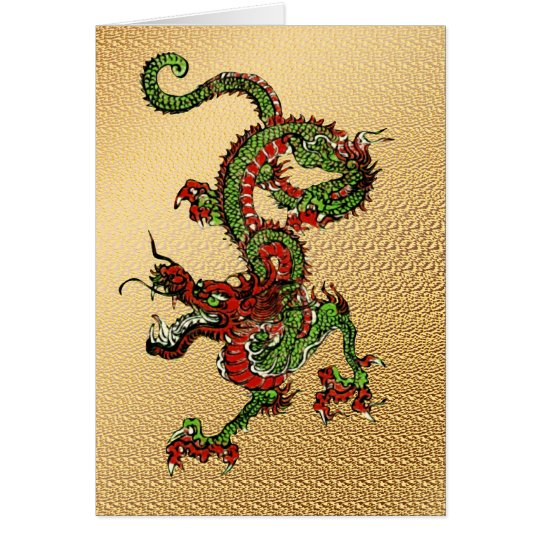 Chinese Dragon Card