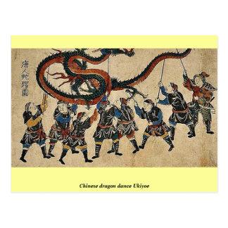 Chinese dragon dance Ukiyoe Postcard