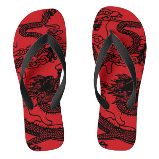 Chinese Dragon Flip Flops