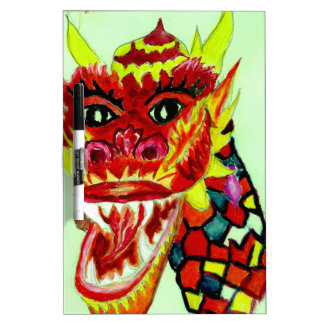 Chinese Dragon Head Dry Erase Whiteboards