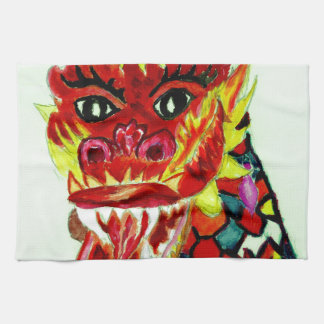 Chinese Dragon Head Kitchen Towel