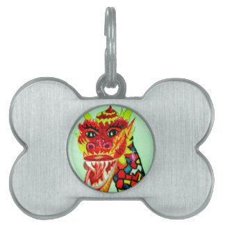 Chinese Dragon Head Pet ID Tag