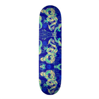Chinese Dragon Neon Element Custom Pro Park Board Skate Board