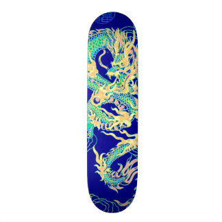 Chinese Dragon Neon Element Custom Pro Park Board Skateboard