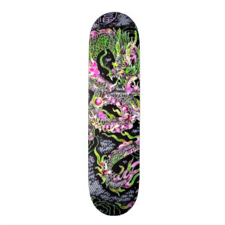 Chinese Dragon Neon Foil Element Custom Pro Board Skate Board Deck
