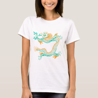 Chinese Dragon (orange aqua) T-Shirt