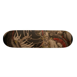 Chinese Dragon Painting Skate Deck