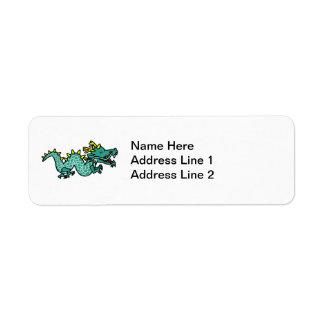 Chinese Dragon Return Address Label