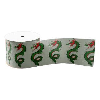 Chinese dragon ribbon grosgrain ribbon