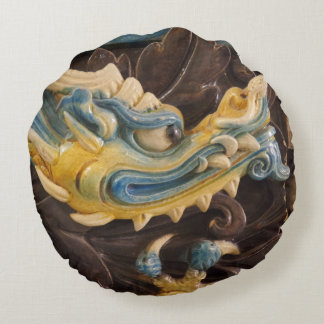 Chinese Dragon Round Pillow