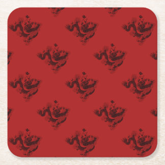 Chinese Dragon Square Paper Coaster