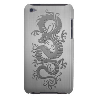 Chinese Dragon, Stainless Steel Effect iPod Case-Mate Cases