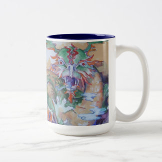 Chinese Dragon Two-tone Mug - Navy