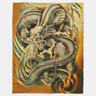 Chinese Earth Dragon Fleece Blanket