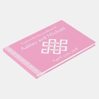 Chinese Elegance in Petal Pink Guest Book