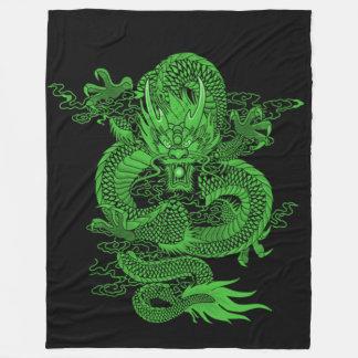 Chinese Emerald Emperor Dragon Fleece Blanket