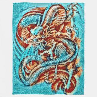Chinese Emperor Dragon Acrylic Fleece Blanket