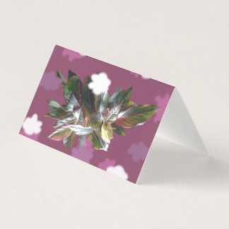 Chinese Evergreen plant natural blank card
